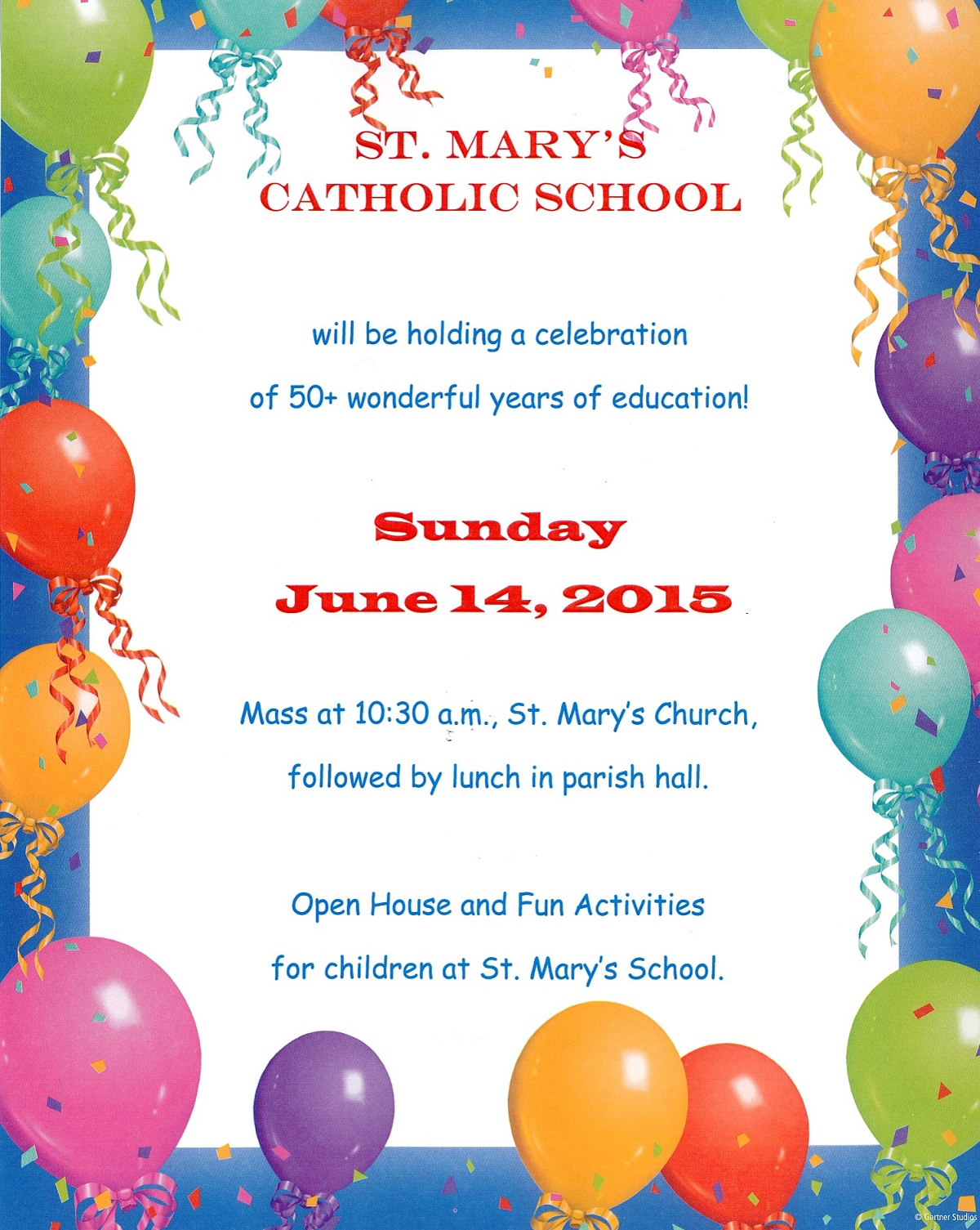 St Mary's Catholic School Celebration